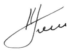 Подпись Попова